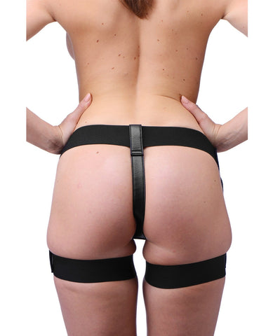 Strap U Bardot Elastic Strap-on Harness W-thigh Cuffs-Strap Ons-Xr LLC-Slightly Legal Toys