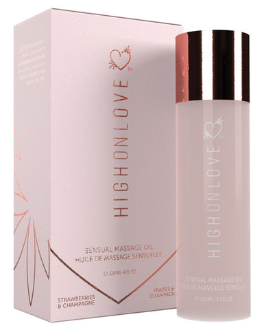 HighOnLove Hemp Massage Oil-Massage Products-Produits Amore Et Beaute INC-Strawberries & Champagne-Slightly Legal Toys