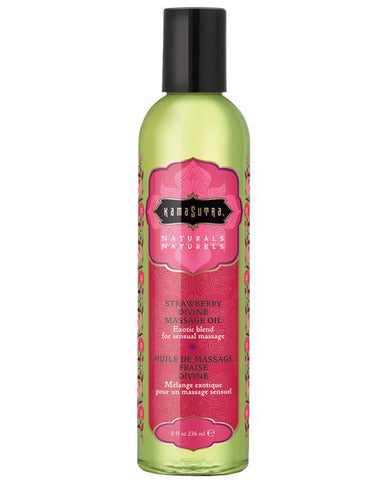 Kama Sutra Naturals Massage Oil-Massage Products-Kama Sutra-Strawberry Divine-Slightly Legal Toys