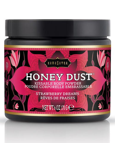 Kama Sutra Honey Dust - 6 Oz-Body Toppings & Edibles-Kama Sutra-Strawberry Dreams-Slightly Legal Toys