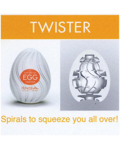 Tenga Egg Variety Carton - 6 Textures-Dolls & Masturbators-Tenga Usa INC-Twister-Slightly Legal Toys