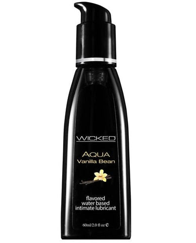 Wicked Sensual Care Aqua Waterbased Lubricant - Flavors-Lubricants-Wicked Sensual Care-Vanilla Bean-2 Oz-Slightly Legal Toys