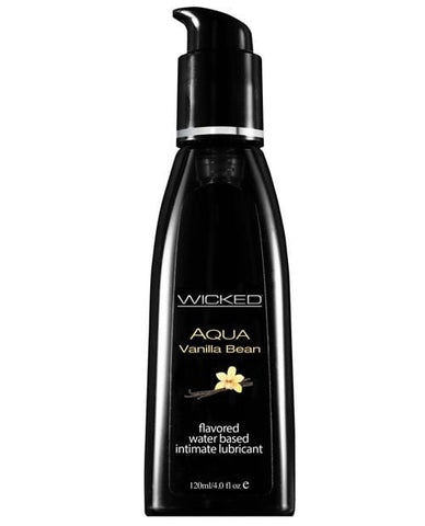 Wicked Sensual Care Aqua Waterbased Lubricant - Flavors-Lubricants-Wicked Sensual Care-Vanilla Bean-4 Oz-Slightly Legal Toys