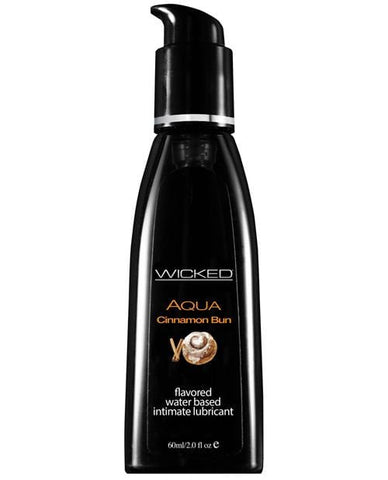Wicked Sensual Care Aqua Waterbased Lubricant - Flavors-Lubricants-Wicked Sensual Care-Cinnamon Bun-2 Oz-Slightly Legal Toys