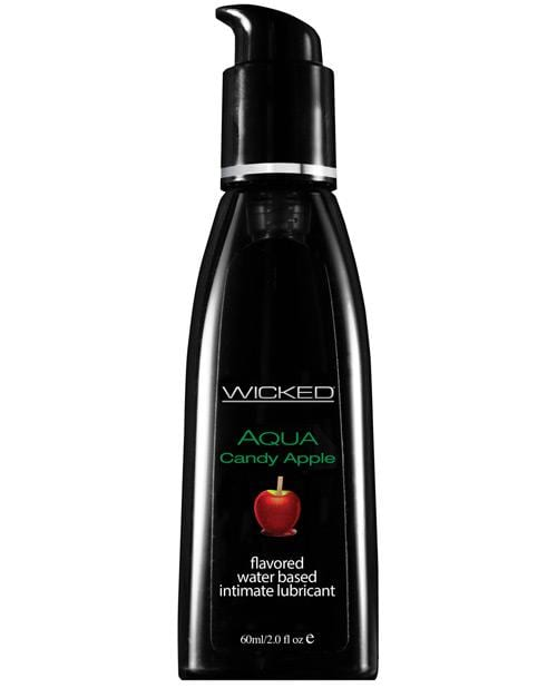 Wicked Sensual Care Aqua Waterbased Lubricant - Flavors-Lubricants-Wicked Sensual Care-Candy Apple-2 Oz-Slightly Legal Toys