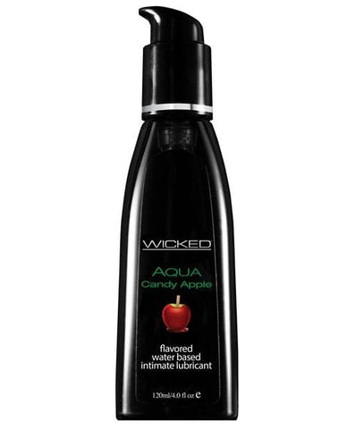 Wicked Sensual Care Aqua Waterbased Lubricant - Flavors-Lubricants-Wicked Sensual Care-Candy Apple-4 Oz-Slightly Legal Toys