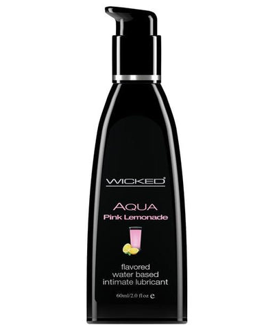 Wicked Sensual Care Aqua Waterbased Lubricant - Flavors-Lubricants-Wicked Sensual Care-Pink Lemonade-2 Oz-Slightly Legal Toys
