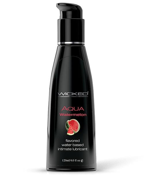 Wicked Sensual Care Aqua Waterbased Lubricant - Flavors-Lubricants-Wicked Sensual Care-Watermelon-4 Oz-Slightly Legal Toys
