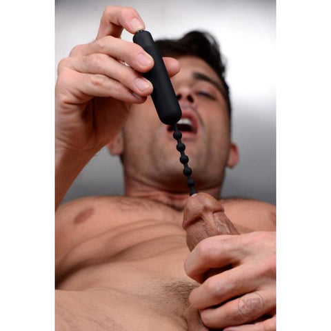 Master Series Dark Rod Vibrating Beaded Silicone Sound