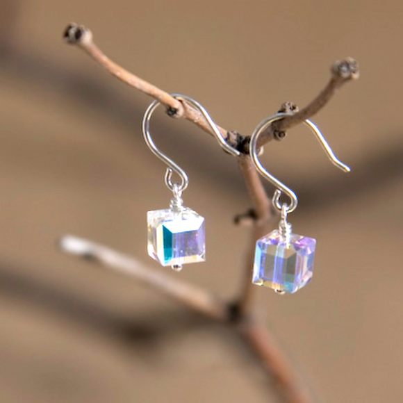Aries Swarovski Crystal Earrings