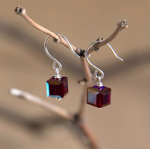 Capricorn Swarovski Crystal Earrings