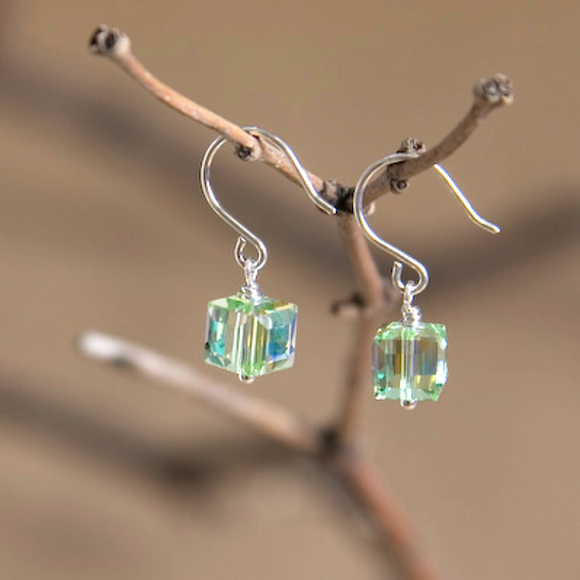 Leo Swarovski Crystal Earrings