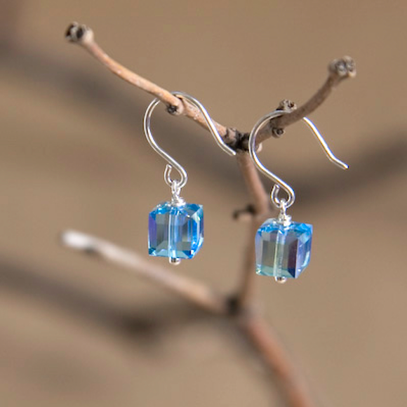 Pisces Swarovski Crystal Earrings