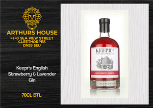 Keepr's English Strawberry & Lavender Gin