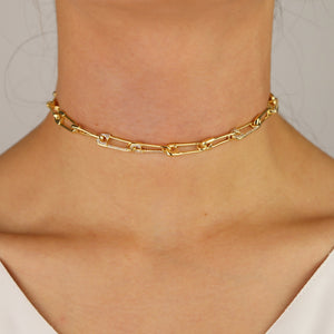 Dazzling Safety Pin - Choker Necklace