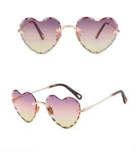 Molly - Rimless Heart-shaped Sunglasses