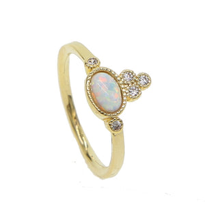 Opalescent Oval - Stacking Rings