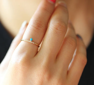 Dainty Turquoise - Stacking Ring