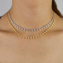 To a Point - Spiked Choker Necklace