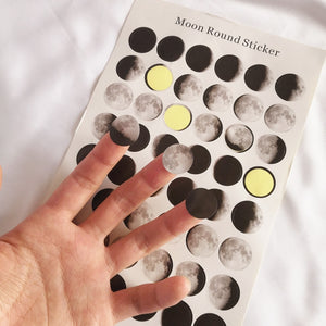 Lunar Cycle - Scrapbooking/Journaling Stickers