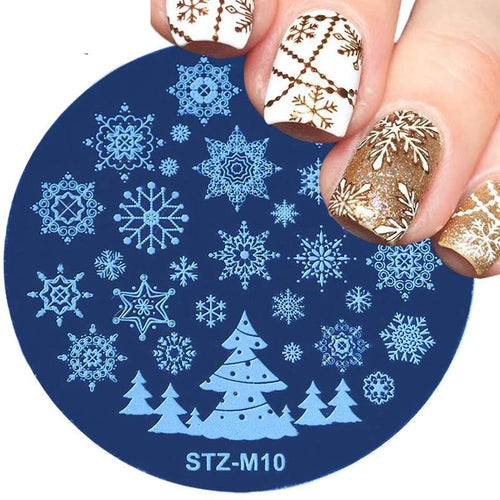 Merry Christmas - Etched Nail Stamping Plate