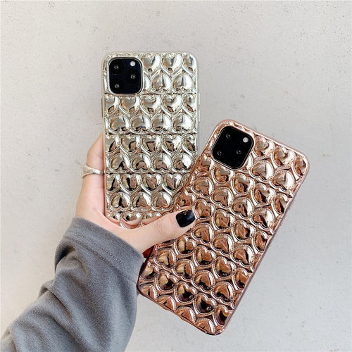 Metallic Hearts - iPhone Case