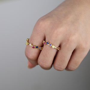Delicate Stones - Stacking Rings