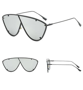 Meg - Asymetrical Shield Sunglasses
