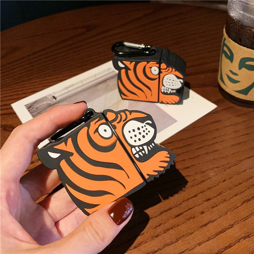 Fierce Tiger - Silicone Apple Airpods 1/2 Case