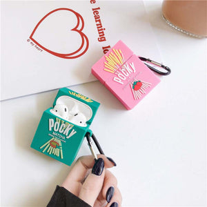 Pocky Cookie - Silicone Apple Airpods 1/2 Case