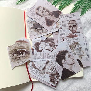 Receipt Paper Sketches - Scrapbooking/Journaling Sticker Set