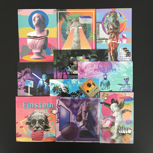 Vaporwave Aesthetic - Scrapbooking/Journaling Sticker Set
