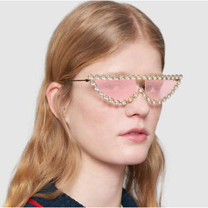 Juliana - High Brow Rhinestone Sunglasses
