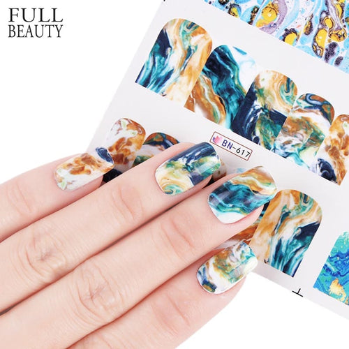 Gradient Marble - Nail Decal set