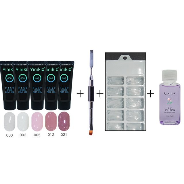 Ultimate 5 PCS - Polygel Nail Set + Tools - taylormadison.store