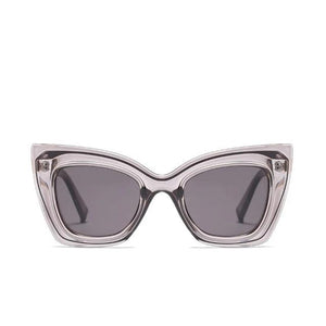 Violet - Oversized Angular Cat-eye Sunglasses