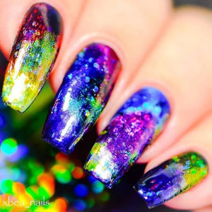 Multi-colored Gradient Galaxy - Nail Foil Decal - taylormadison.store