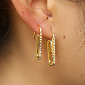 Dazzling Paperclip - Earrings