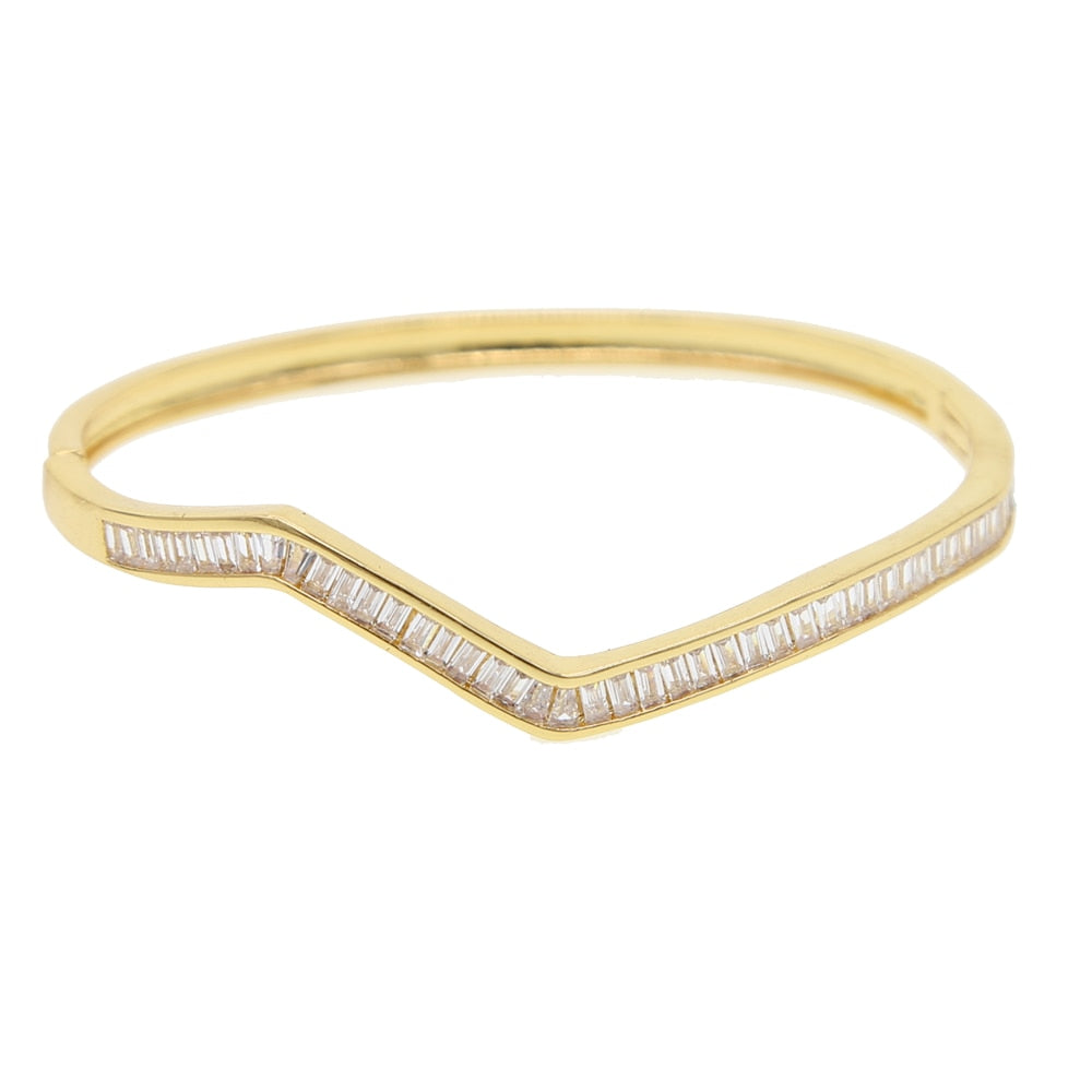 Zigzag Bling - Bangle Bracelet