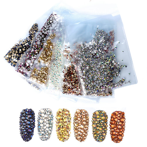 1440 Pcs Mix & Match - Rhinestone Nail Decoration - taylormadison.store