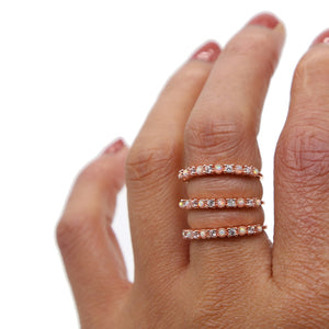 Opalescent Bling - Stacking Rings