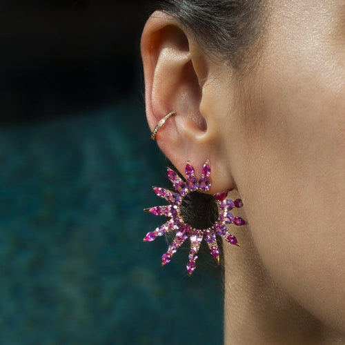 Starburst - Statement Hoop Earrings