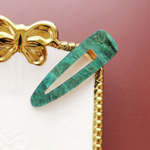 Rose Quartz & Jade Inspired - Hair Clip