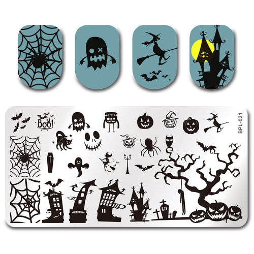 Happy Halloween - Etched Nail Stamping Plate
