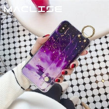 Marble & Gold Foil - iPhone Case W/ Keychain