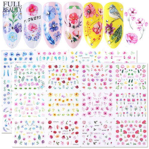 Flower Power - Nail Decal set