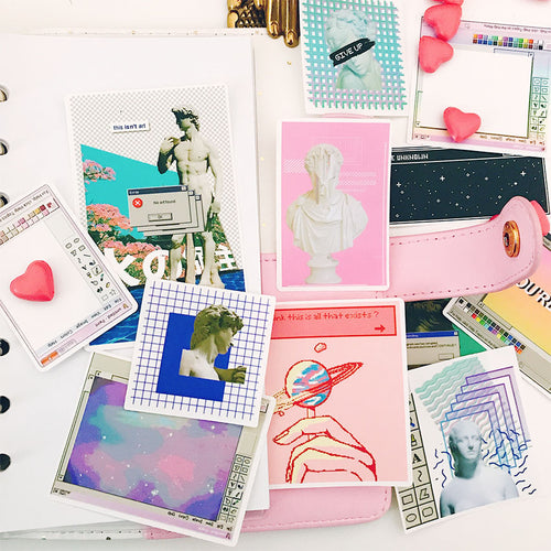 Vaporwave Aesthetic 2.0 - Scrapbooking/Journaling Sticker Set