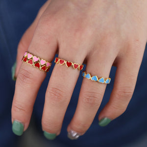 Interlocking Love - Stacking Rings