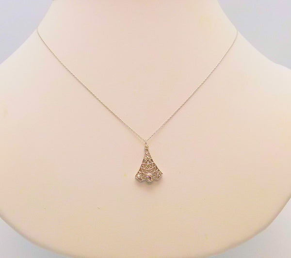 Antique Platinum & Diamond Pendant