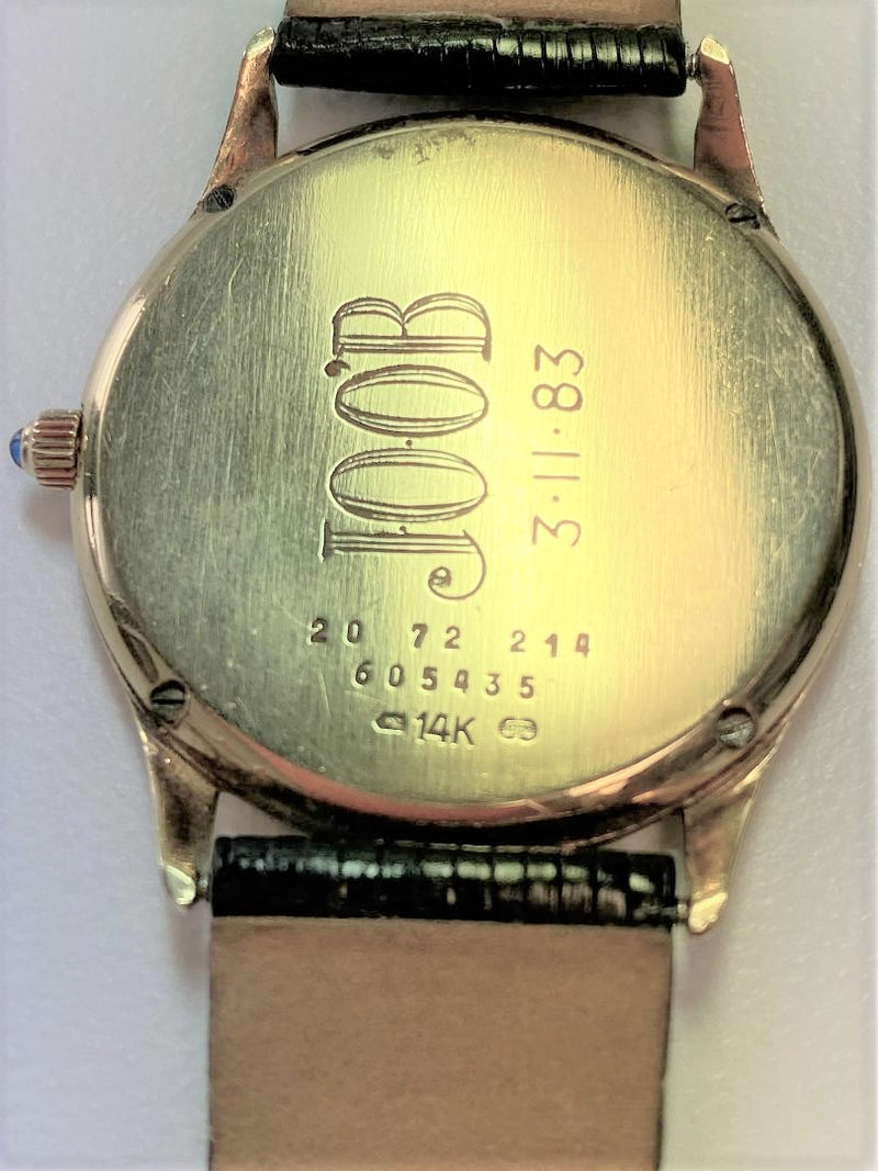 14K Yellow Gold Hidden Wristwatch
